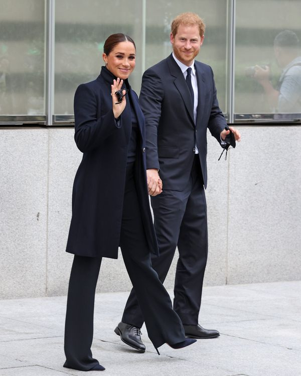 Meghan Markle and Prince Harry visit One World Trade Center on Thursday in New York City.