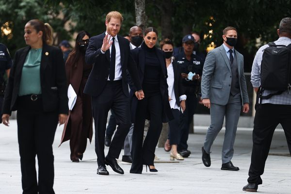 Meghan and Harry pictured in New York.