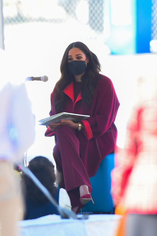 """Meghan reads from her new children's book, """"The Bench."""""""