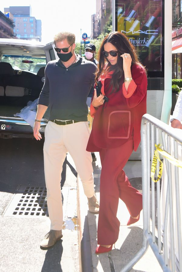 Harry and Meghan seen at Melba's in Harlem for lunch on Friday.