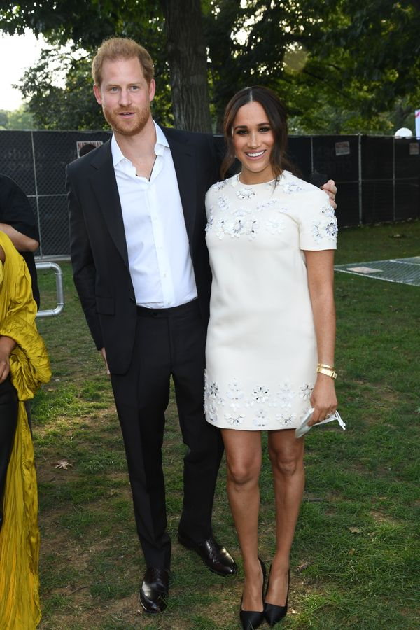 Harry and Meghan pose together at Global Citizen Live.