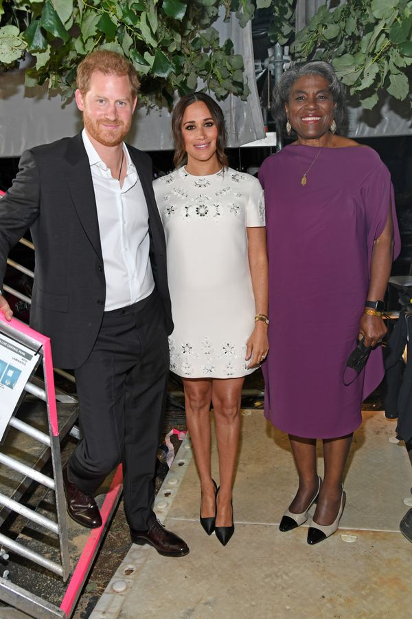 The Sussexes pose alongside Ambassador Linda Thomas-Greenfield at Global Citizen Live.