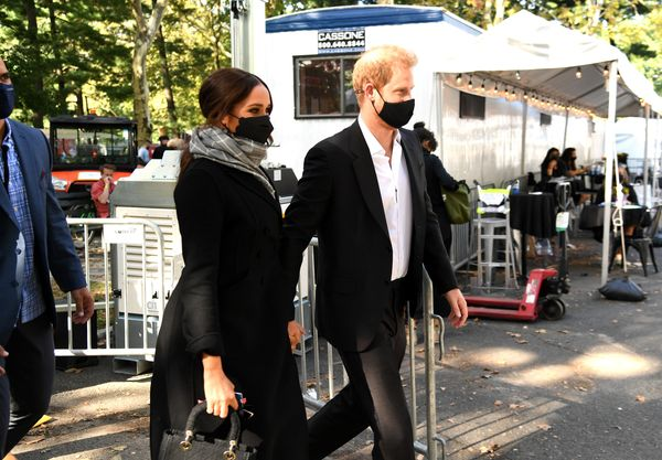 Harry and Meghan arrive at Global Citizen Live in New York.