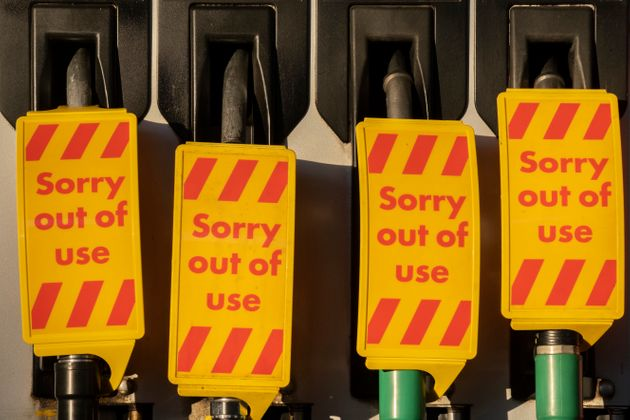 As the fuel transport crisis continues into its second week, sealed Texaco petrol and diesel pumps are...
