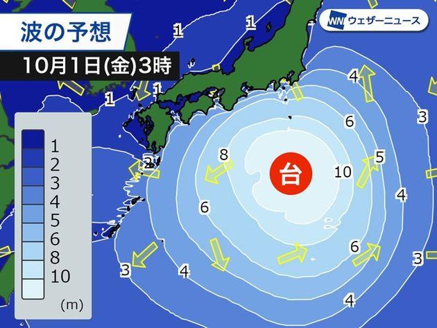 10月1日(金)の波の予想