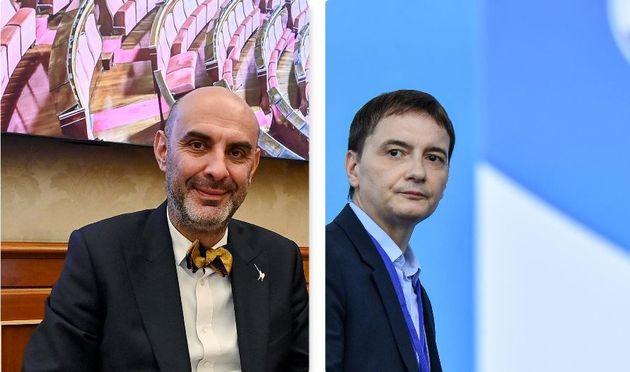 Simone Pillon (sx) e Luca Morisi