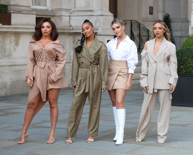 Jesy pictured with her Little Mix bandmates in September 2020
