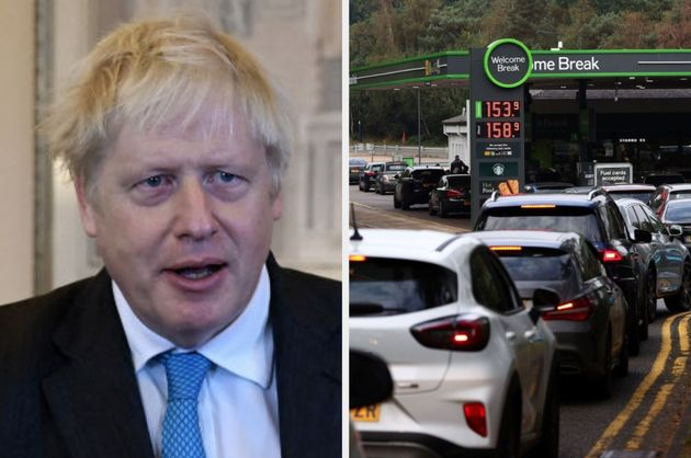 Prime minister Boris Johnson has been criticised for not addressing the fuel