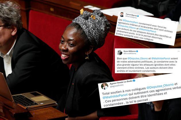 La députée Danièle Obono photographiée à l'Assemblée nationale