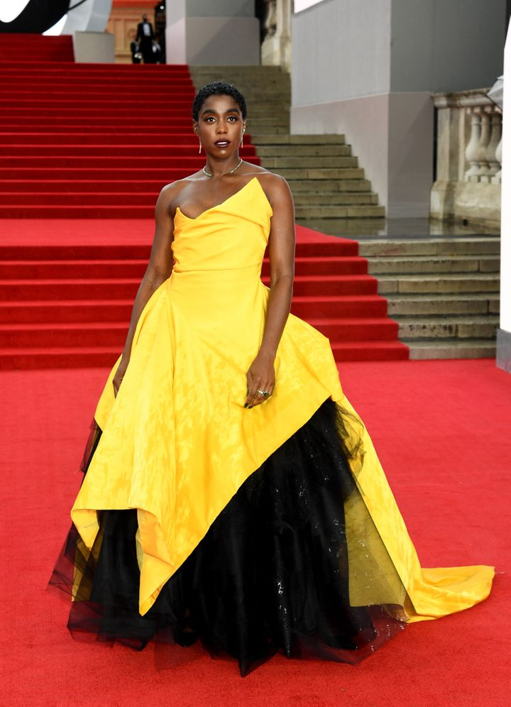 Lynch brought the glamour to the red carpet and let her voluminous yellow and black dress do all of the talking.