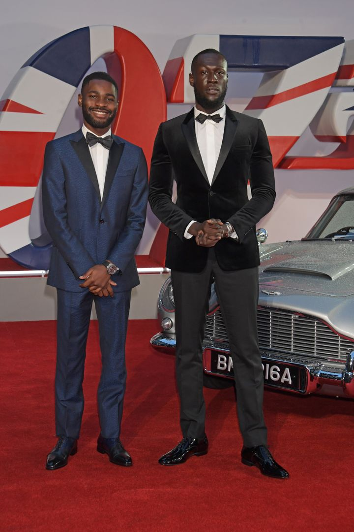 Dave and Stormzy at the premiere.