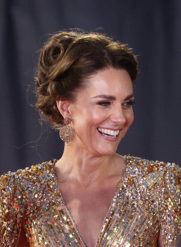 Kate Middleton dazzles in shimmering gold dress at James Bond premiere