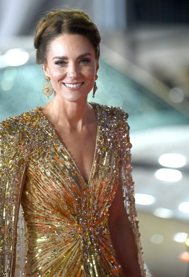 A closer look at the detailing on the Duchess of Cambridge's gown.