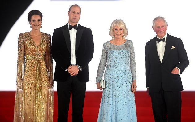 Catherine, Duchess of Cambridge, Prince William, Duke of Cambridge, Camilla, Duchess of Cornwall, and...