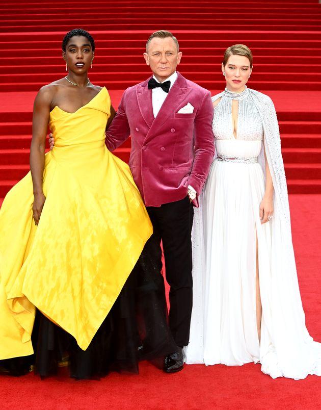 Lashana Lynch, Daniel Craig and Lea