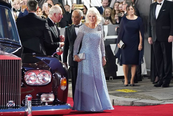 Charles and Camilla arrive.