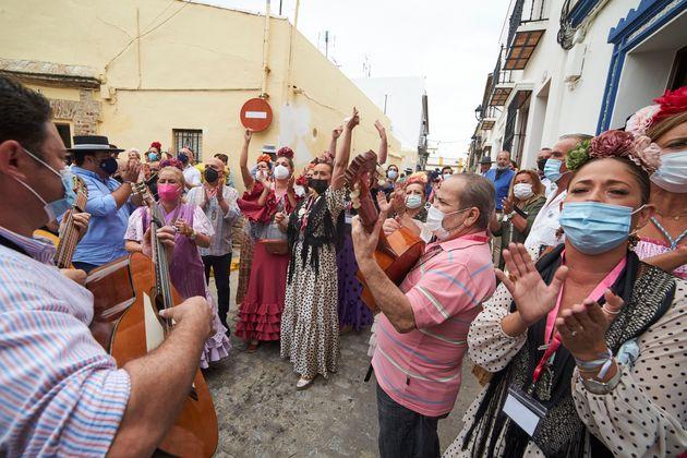 La Romería de la Pastora Cantillana es la primera que se ha celebrado desde el inicio de la