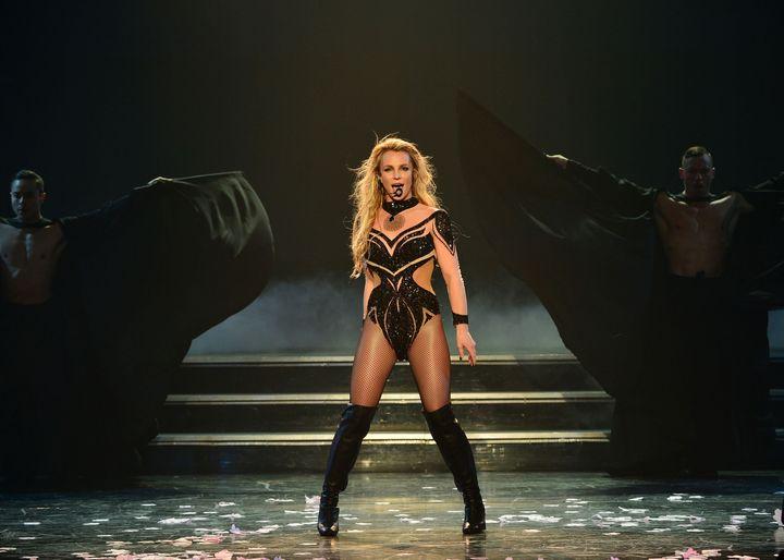 Britney Spears performing at her Las Vegas residency in 2016.