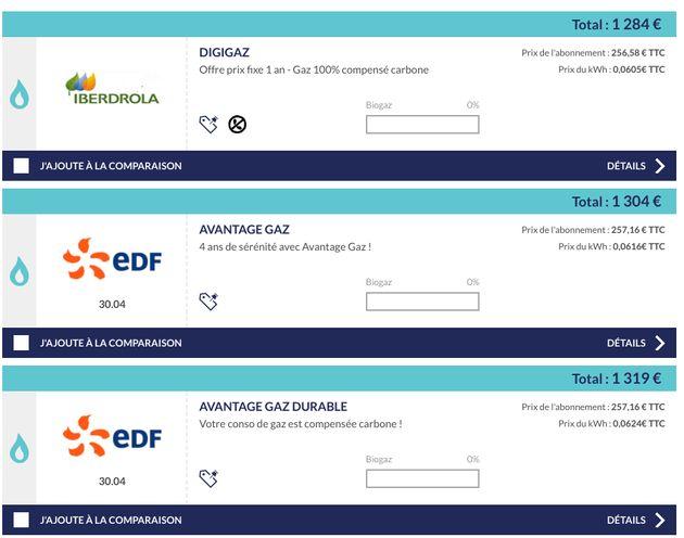 Prix de contrats de gaz pour un logement à Lyon de moins de 200m².