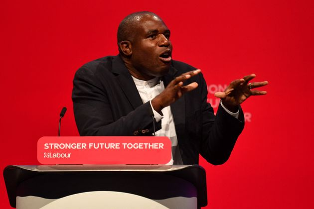 Lammy during Labour's party