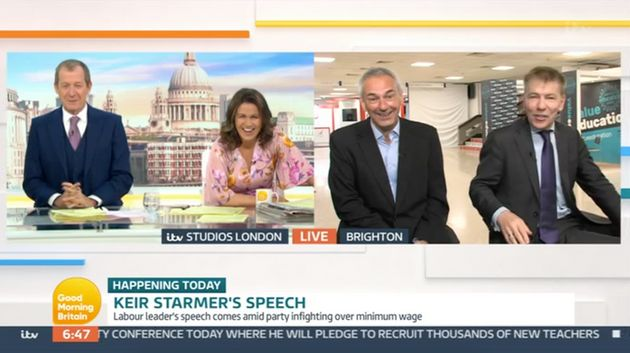 Alastair and Susanna interviewing the political pair on