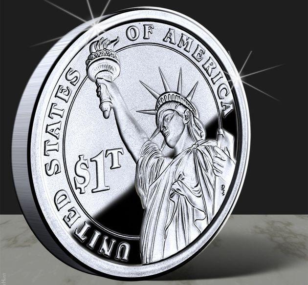 Et si une pièce d'une valeur de mille milliards de dollars réglait le sempiternel problème de la dette...