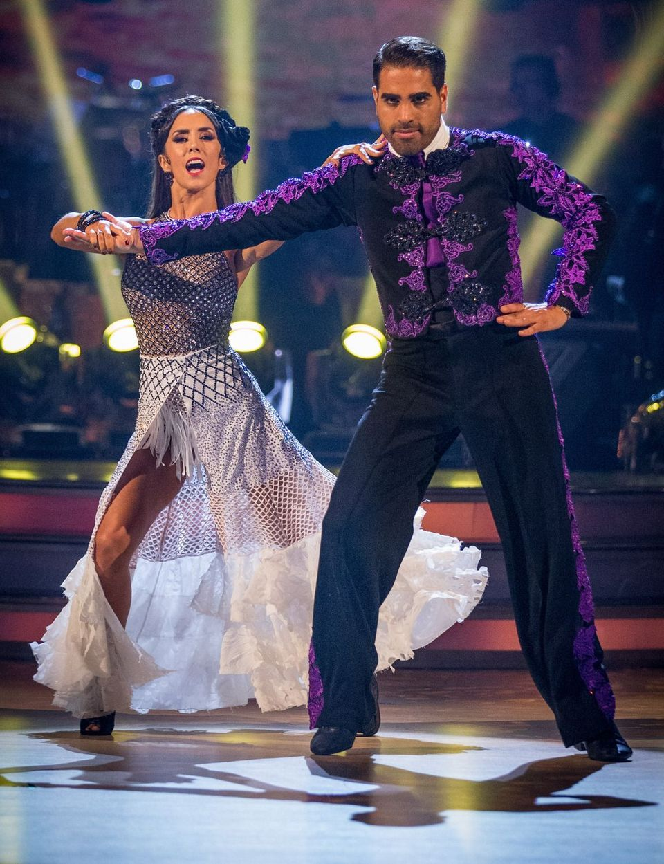 Ranj on the Strictly floor with partner Janette