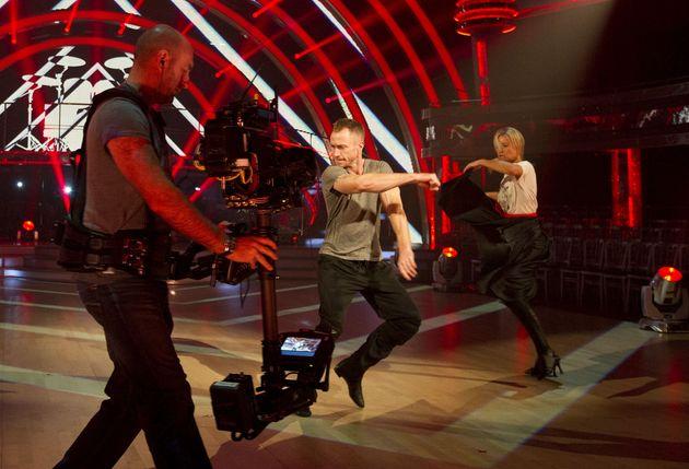 James Jordan and Denise Van Outen in rehearsals in