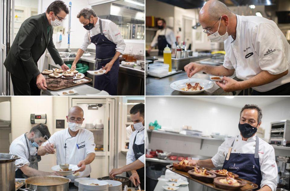 Los chefs mantuvieron un ritmo intenso para que todo resultara como en una