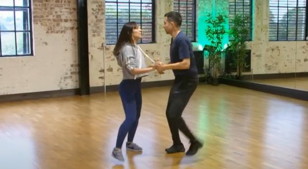 Janette Manrara and Will Bayley in Strictly rehearsals in
