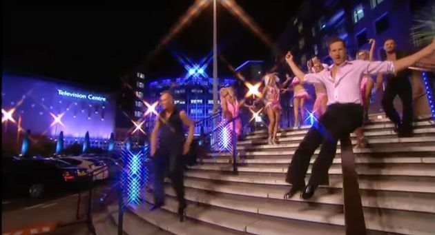 Strictly Come Dancing pros outside the old BBC Television