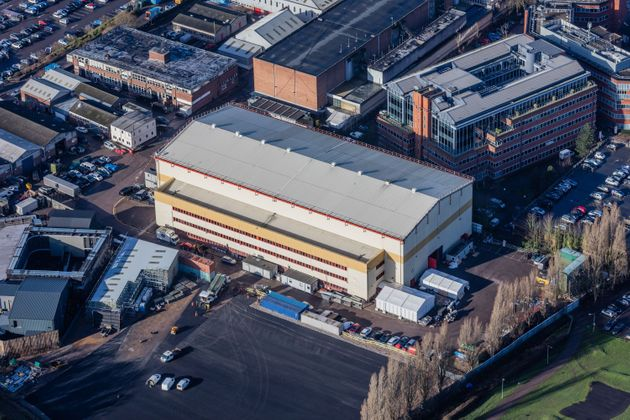 Aerial view of the sound stage used for Strictly Come Dancing on the lot at Elstree Studios in