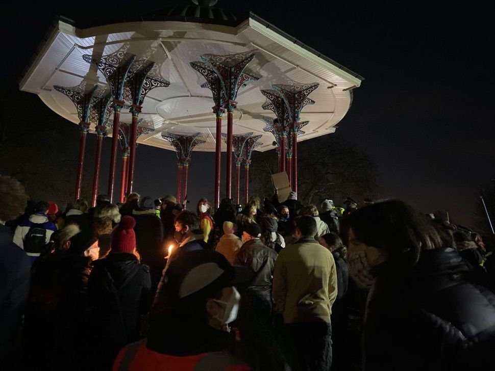 Even in vigils, a time of mourning and reflection, men can sometimes take up space