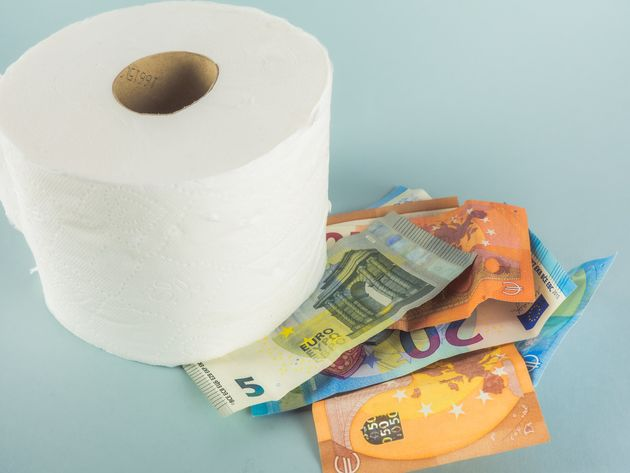 MARCH 2020 - During the COVID 19 coronavirus crisis, toilet paper runs out in