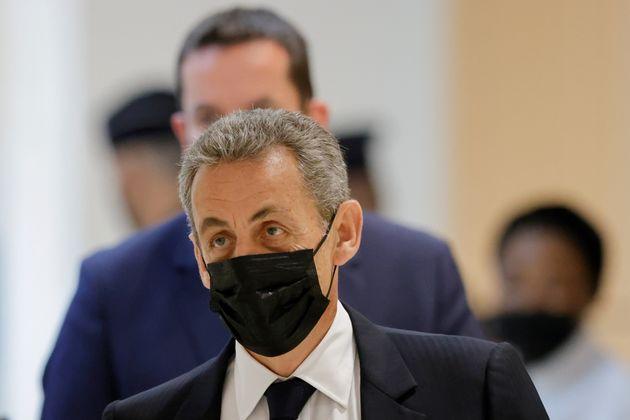 Nicolas Sarkozy, ici à son arrivée au tribunal au mois de juin, a été condamné (avant de faire appel) pour l'affaire Bygmalion.