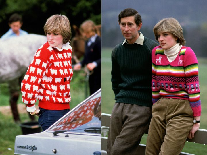 Princess Diana rocked many cozy sweaters throughout her life.