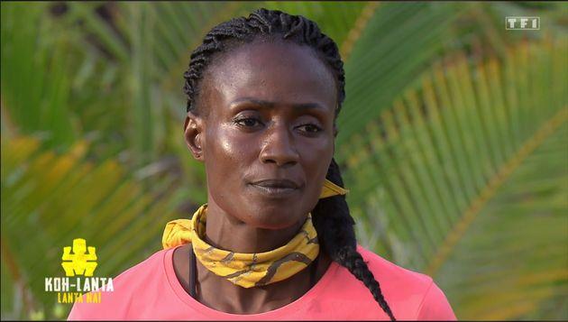 Capture d'écran de l'épisode 5 de Koh Lanta / Coumba au moment du vote