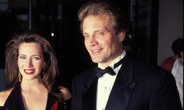 L'acteur Michael Tylo, ici aux côtés de sa première épouse, dans les années 1980.