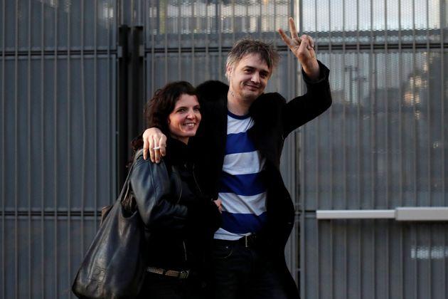 Pete Doherty y Katia De Vidas en París, Francia, 12 de noviembre