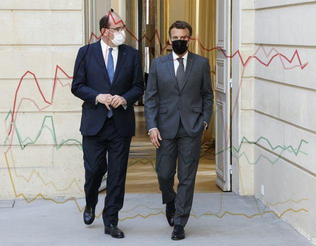 Petite chute de popularité de Macron et Castex