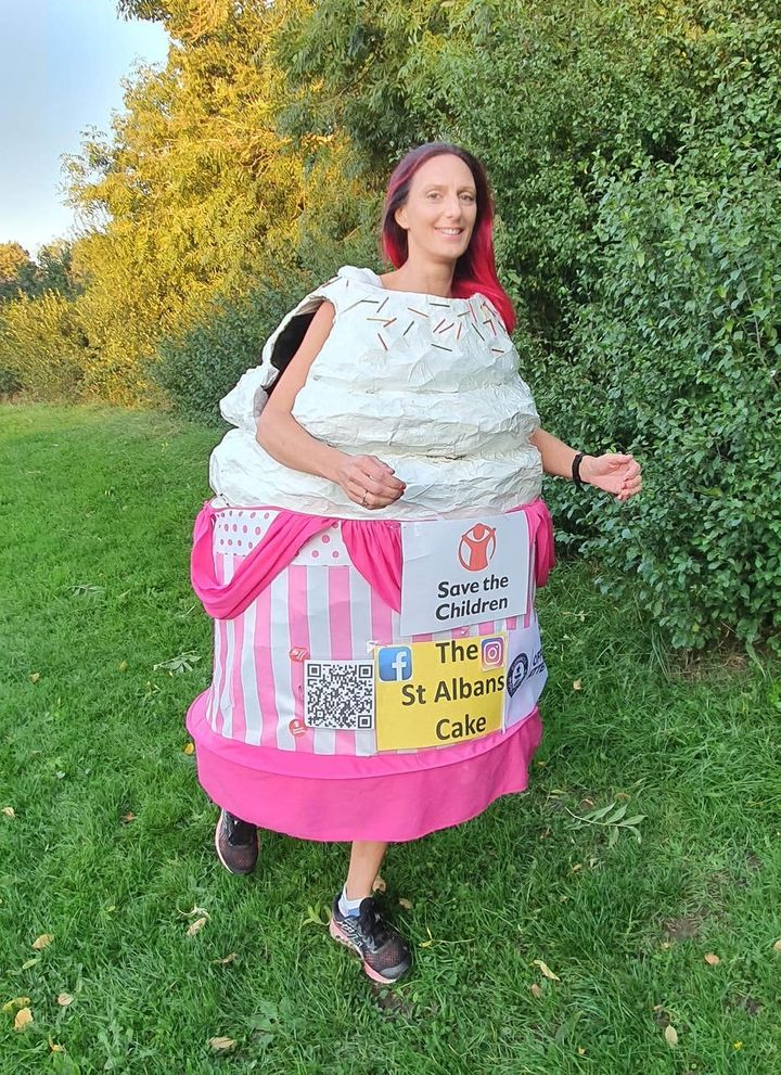 Anna Bassil's sweet costume.