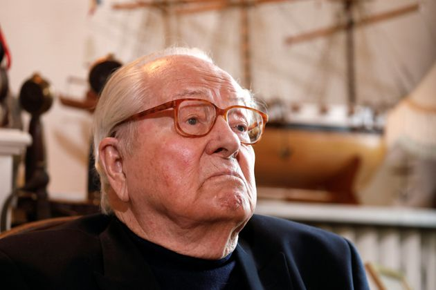 Jean-Marie Le Pen, founder of France's far-right National Front political party, reacts during an interview with Reuters in Montrerout, France, February 27, 2018.  Picture taken February 27, 2018.  REUTERS/Charles Platiau
