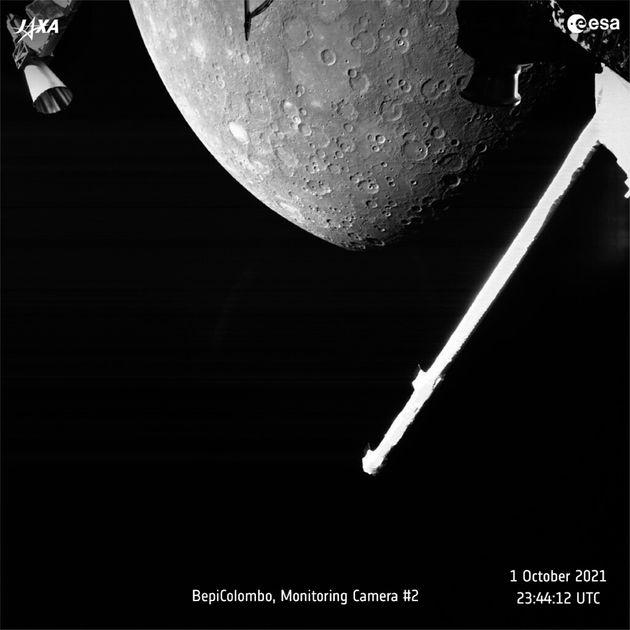 Image la planète Mars prise par le satellite BepiColombo le 1er octobre 2021.