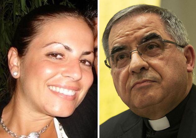 La combo mostra il cardinale Angelo Becciu e Cecilia