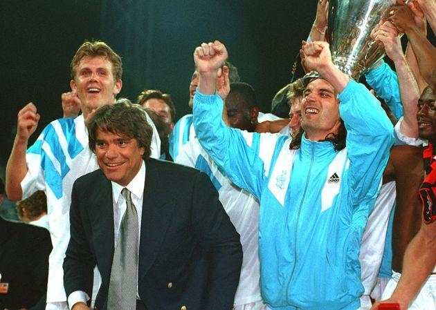 Sous la présidence de Bernard Tapie, l'Olympique de Marseille a remporté la Ligue des Champions en France en 1993. (Photo by Frank Leonhardt/picture alliance via Getty Images)