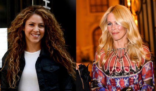Shakira et Claudia Schiffer.