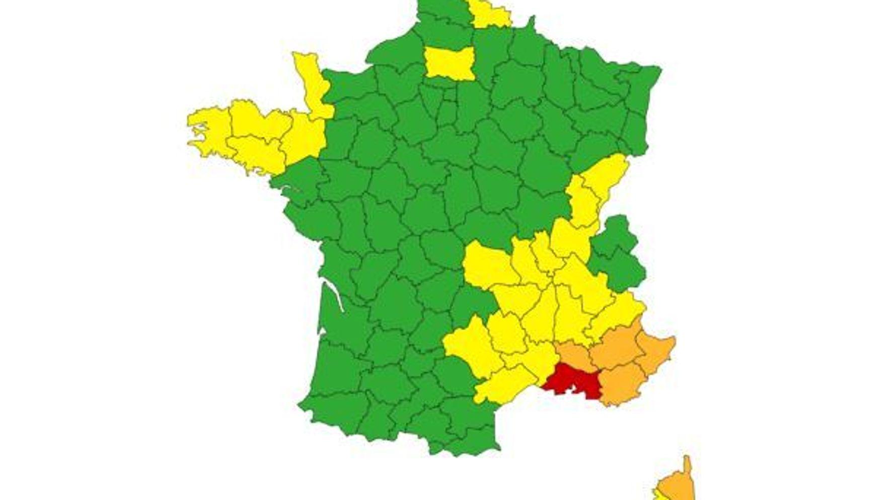 Pluie, inondations: Météo France place les Bouches-du-Rhône en alerte rouge