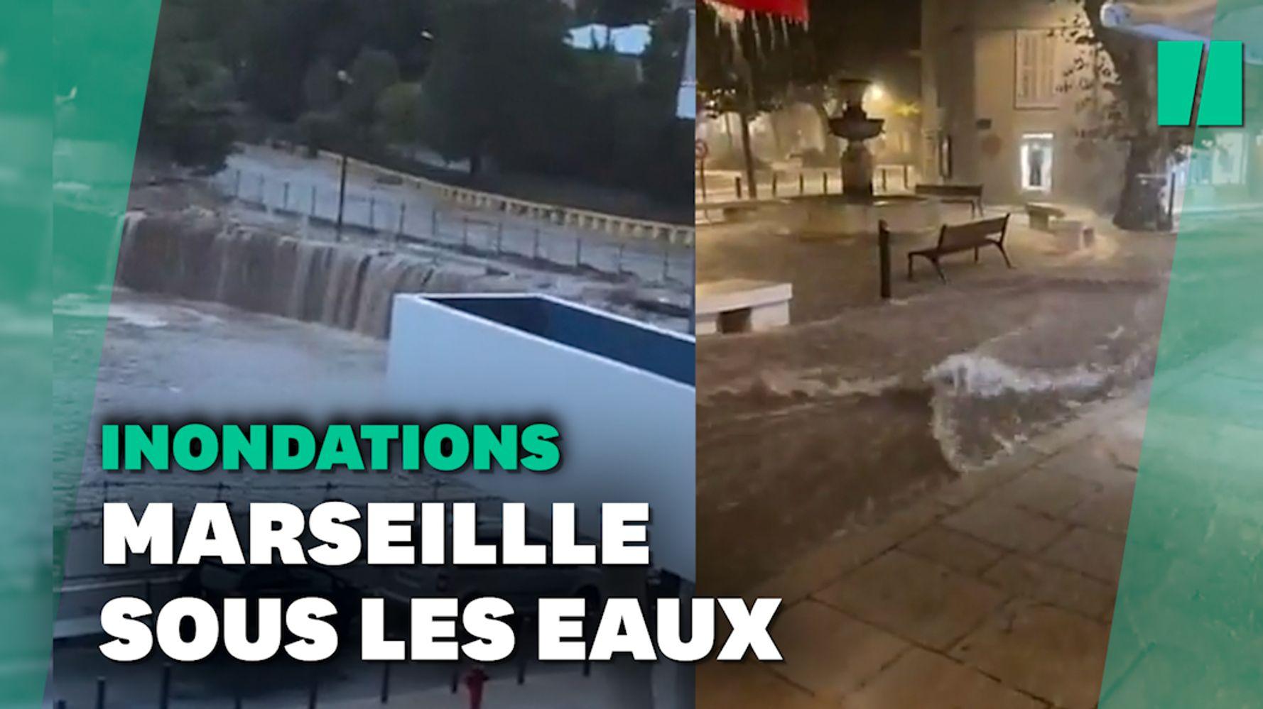 Météo à Marseille: les premières images des inondations dans la ville