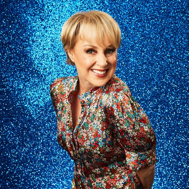 Sally Dynevor in her Dancing On Ice press