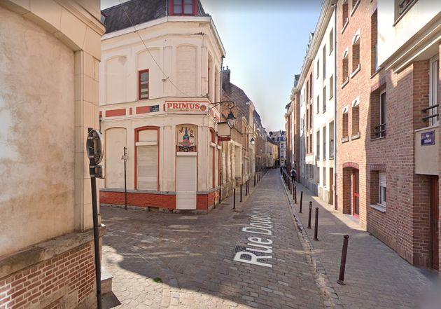 Le bar Kremlin à Lille, où un prêtre et ses amis ont été la cible d'une agression par des jeunes qui s'apparentaient à Génération Zemmour, le 2 octobre 2021.